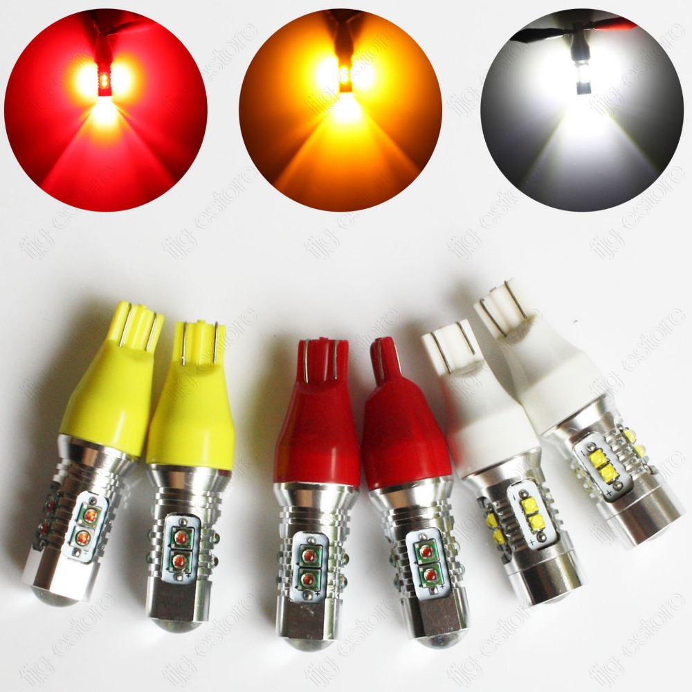 2005 2009 ford mustang 2x hid white 921 led reverse light bulb backup - 2pcs High Power 921 T15 Cree Chip Xenon White Red Yellow 6000k 600lm Car