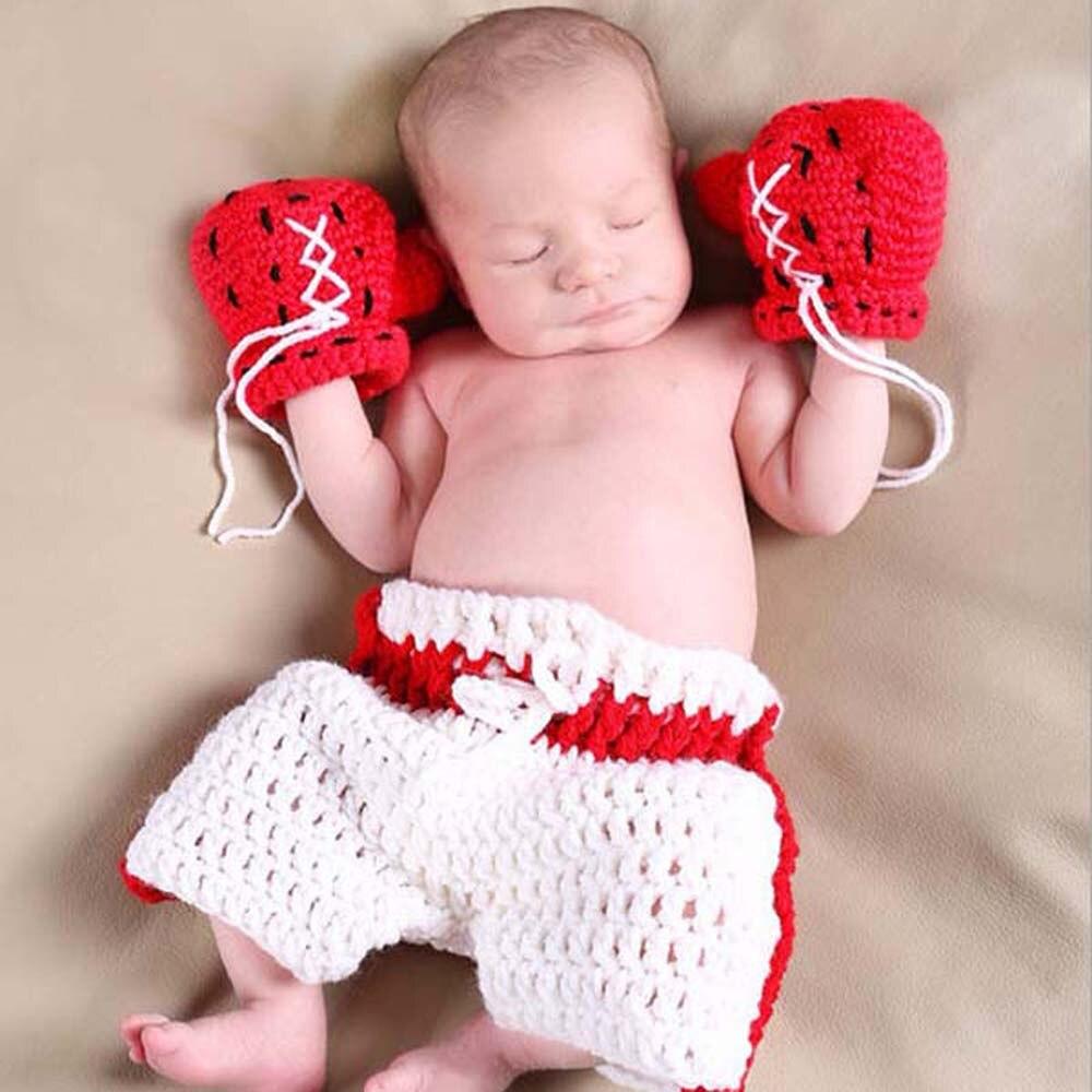 ①Boxeo Guantes Pantalones cortos traje bebé recién nacido ...