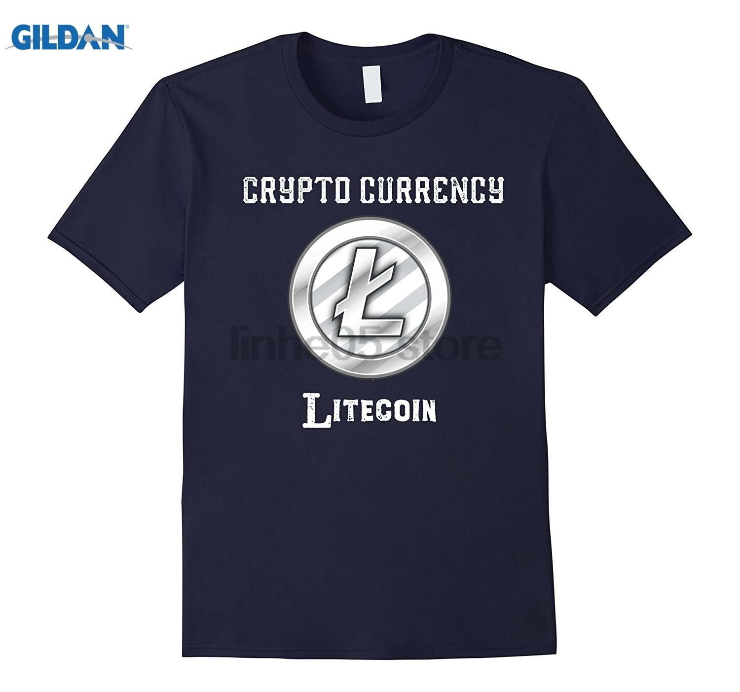 GILDAN Crypto Currency Litecoin T-Shirt Womens T-shirt