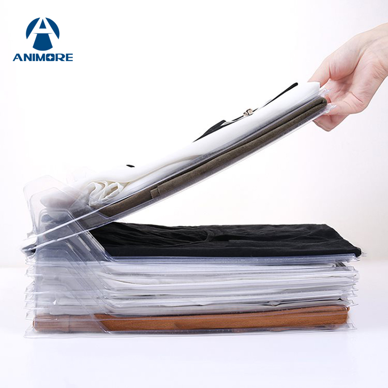 ANIMORE 10 Layers Clothes Fold Board Shirt Folder Cabinet Closet Drawer Stack Organization Office Desk Files Closet Organizer slide out fold down ironing iron board closet wardrobe cloakroom concealed