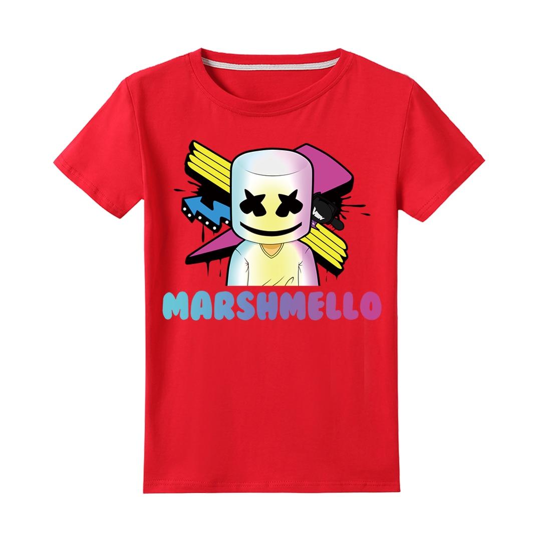 Nachdenklich 2019 Neue Marshmello Dj Musik Kinder T-shirt Kinder T-shirt Für Jungen Mädchen Top Fornite Spiel Fortnight Fortinet Sommer Baby T-shirt Verschiedene Stile