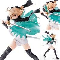 1pcs 24 5cm Pvc Japanese Anime Figure Aquamarine Fate Saber Okita Souji Ver Action Figure Collectible