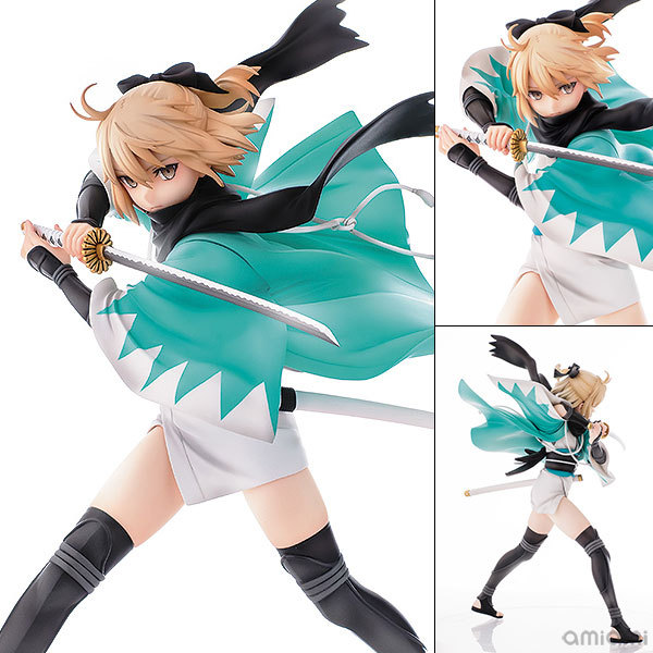 1pcs 24.5cm pvc Japanese anime figure Aquamarine Fate saber Okita Souji ver action figure collectible model toys brinquedos hot 1pcs 28cm pvc japanese sexy anime figure dragon toy tag policwoman action figure collectible model toys brinquedos