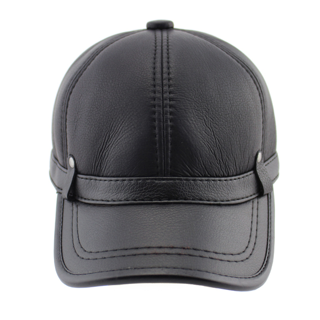 BFDADI Hot selling 2016 winter hat leather hat warm adjustable sport baseball cap for men Big Size Free Shipping