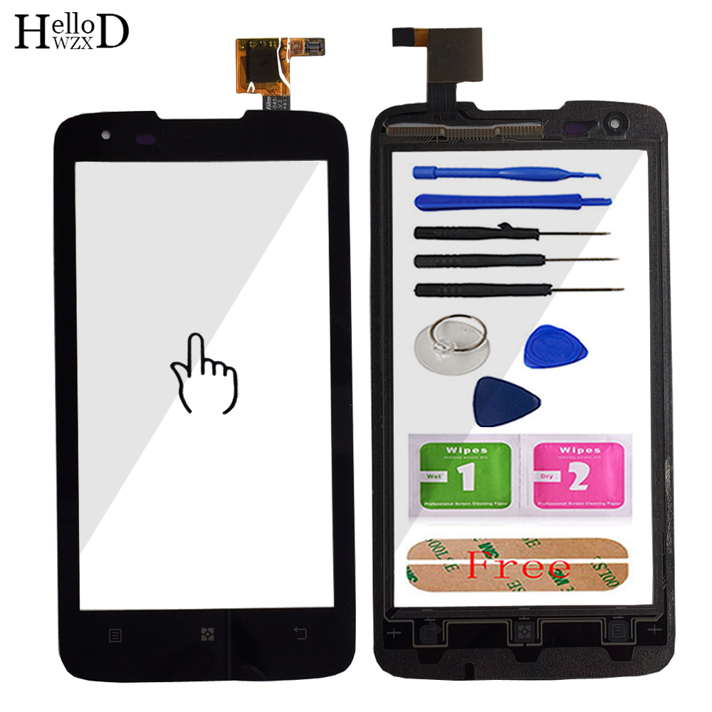 HelloWZXD Mobile Touchscreen Front For <font><b>Lenovo</b></font> <font><b>S750</b></font> S 750 Touch Screen Glass Digitizer Panel Sensor Flex Cable Adhesive Tools image