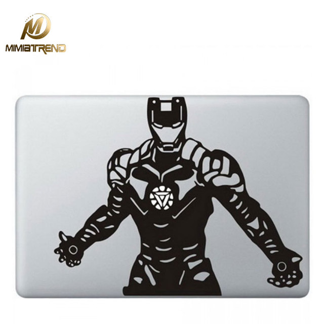 Mimiatrend iron man laptop sticker for apple macbook air pro retina 11 13 15 inch cover