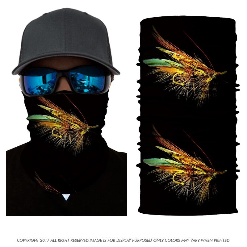 bb82a0ce6594 3D Seamless Fish Bandana Tube Neck Fishing Beanies Turbantes Headscarf Face