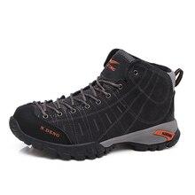 N-Дэн Пеший Туризм обувь Ботинки Для Мужчин's Водонепроницаемый Открытый Поход Ботинки Пояса из натуральной кожи кроссовки зимние замшевые горные Обувь