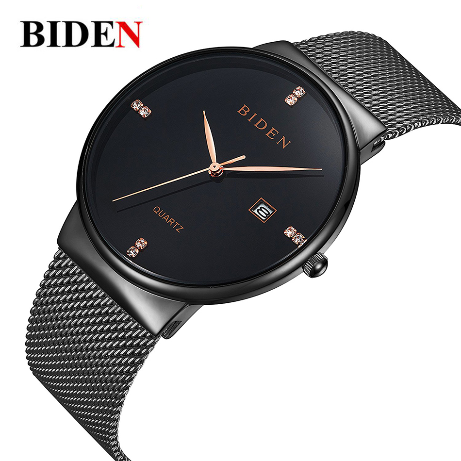 Luxury Mens Bracelet Watch Stainless Steel Mesh date Sports Quartz Watches ultra thin Dress Calendar men Clock Relogio Masculino ctpor luxury watches men black stainless steel ultra thin watches men classic quartz date men s wrist watch relogio masculino d