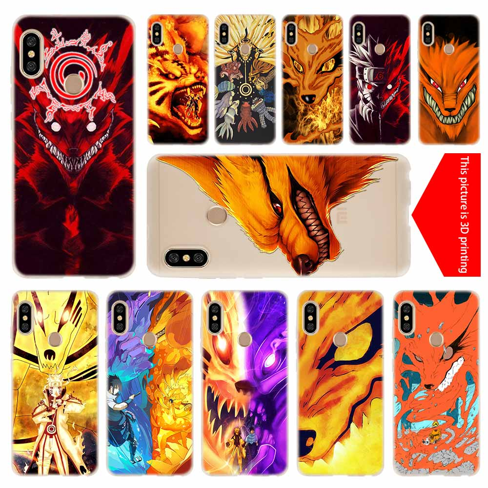 cover soft Silicone TPU Phone Case For Xiaomi Redmi 4X 4a 5 Plus 5a S2 6a 6 Note 8 7 5 6 4 5a Pro nine tailed fox eyes naruto image