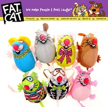 Fatcat Pet Little Dog Mice Toy Fat Cat Canvas Toy Colorful Mouse Fat Cat Toy With Catmint Catnip Funny Pet Product