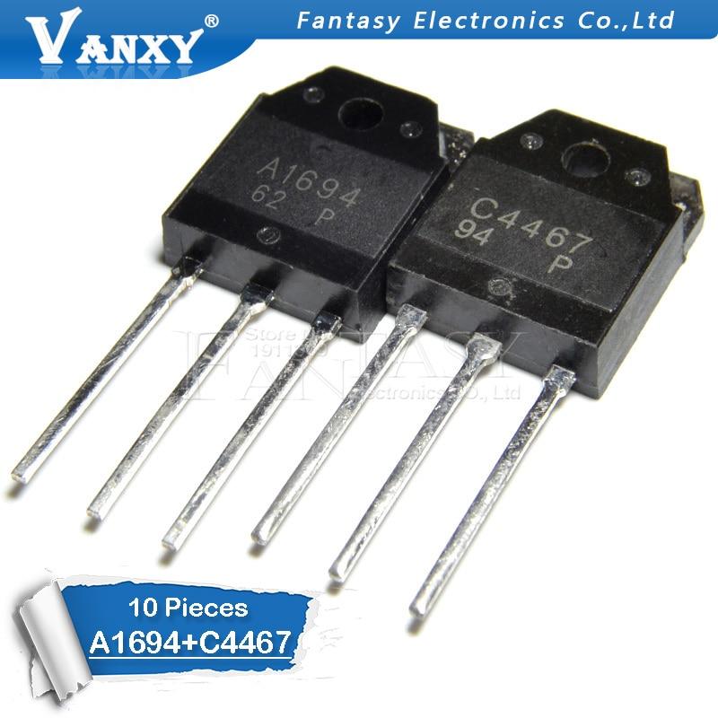 10PCS 2SA1694 2SC4467 TO-3P (5PCS A1694 + 5PCS C4467) TO3P New Original