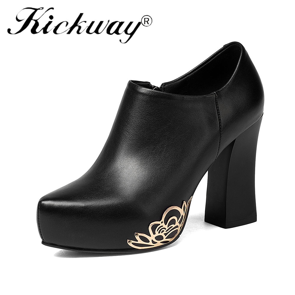 Kickway platform heels shoes woman pumps shoes black pumps sapato feminino dress shoes high heels pumps zapatos mujer big size43 shuangxi jsd luxury designer shoes women pumps 2018 new black heels work leather shoes high quality woman shoe zapatos mujer