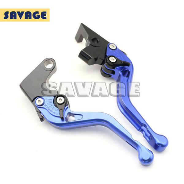 ФОТО Motorcycle Accessories CNC Aluminum Short Brake Clutch Levers For YAMAHA FZ-1 N 06-12, XJ6 Diversion 09-13 Blue