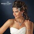 2017 Corrieron Coroa Vinchas Nuevo Frente de Cristal Accesorios Nupciales Del Pelo Floral Waterdrop Checa Joyería de La Boda Peines