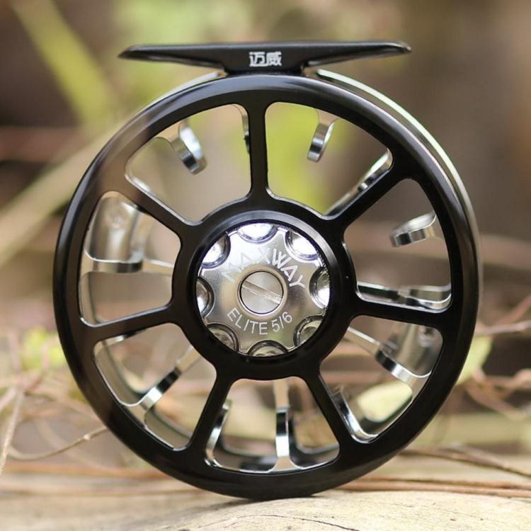 Maxway elite top quality CNC aluminium fly fishing reel size 5/6 sport elite se 2450