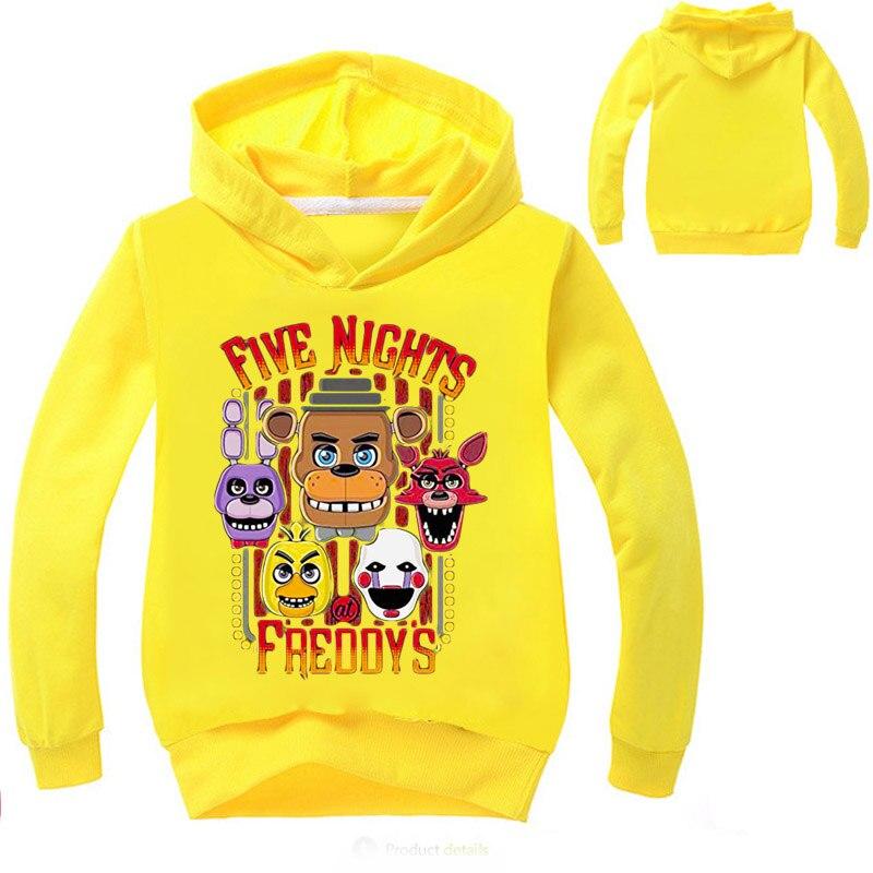 Boys Five Nights At Freddy Sweatshirt Spring Hoodies shirt boys clothes Long sleeve Hooded sweatshirt kid tops baby girl cloth in Hoodies Sweatshirts from Mother Kids