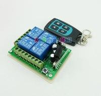 315 mhz 12ボルト4チャンネルワイヤレスリモートコントロールスイッチ+防水4ボタンリモート制御モジュール