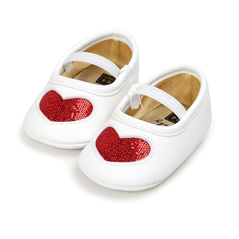Демисезонный маленьких Обувь для девочек ins Новая любовь PU мягкая подошва для Туфли принцессы ...