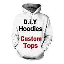 Sudadera con estampado 3D Diy para hombre y mujer, ropa de diseño personalizado, sudadera de Hip Hop, envío directo, proveedores de mayoristas para envío directo