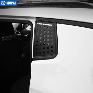 Image 2 - MOPAI Car Exterior Rear Window Triangle Glass Decoration Cover Trim Stickers for Jeep Compass 2017 Up Car Accessories Styling