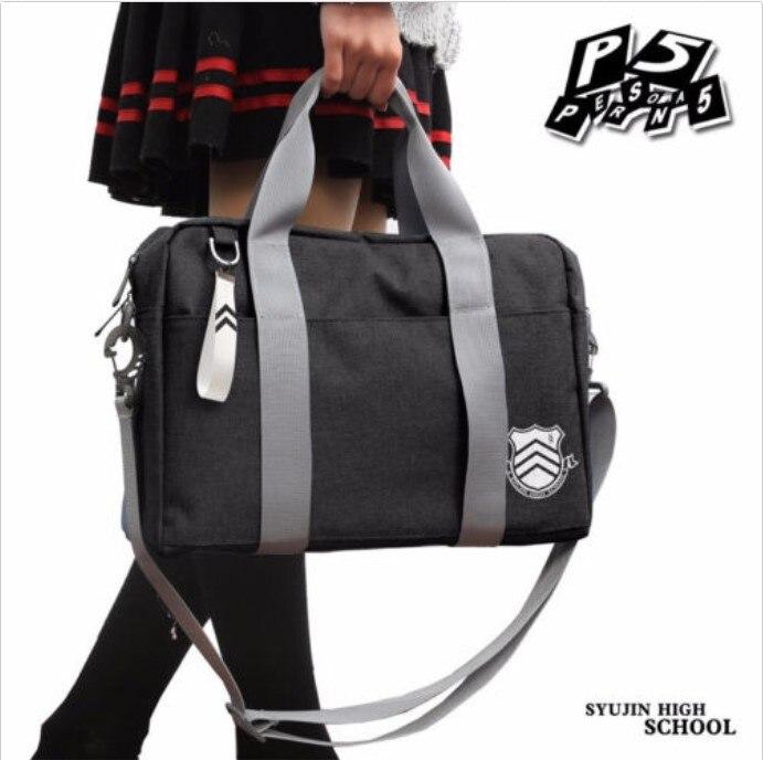 Persona 5 Shujin Gakuen Bag P5 Cosplay  Shoulder High School JK Uniform Handbag