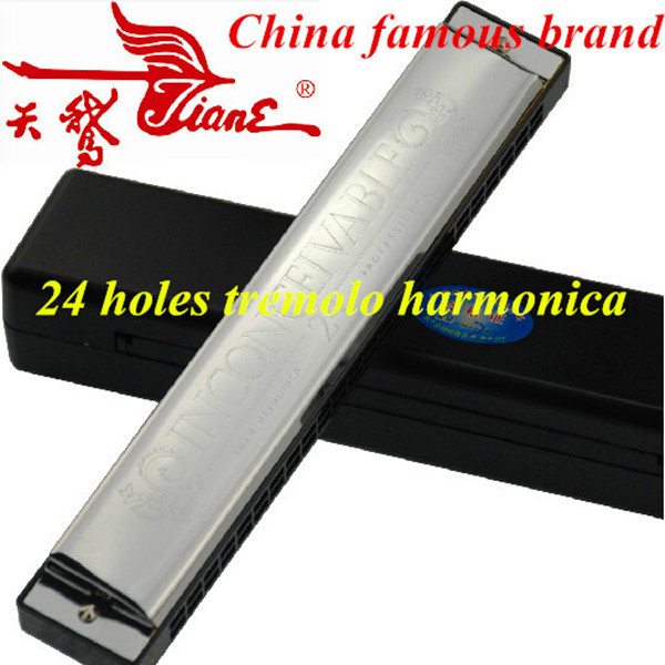 Tremolo Harmonica colorful Swan Tremolo Harmonica Mouth Ogan 24 hole Armonica a Bocca Key of C Harp Instrument Tremolo Harmonica