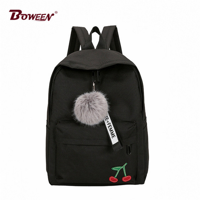 0725fd5d8499 printing nylon girls school bags backpack female for teenagers High school  student schoolbag women College wind