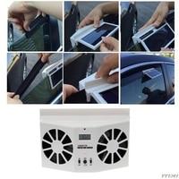 Drop Shipping High Grade Solar Powered Exhaust Fan Car Gills Car Cooler Auto Ventilation Fan Dual