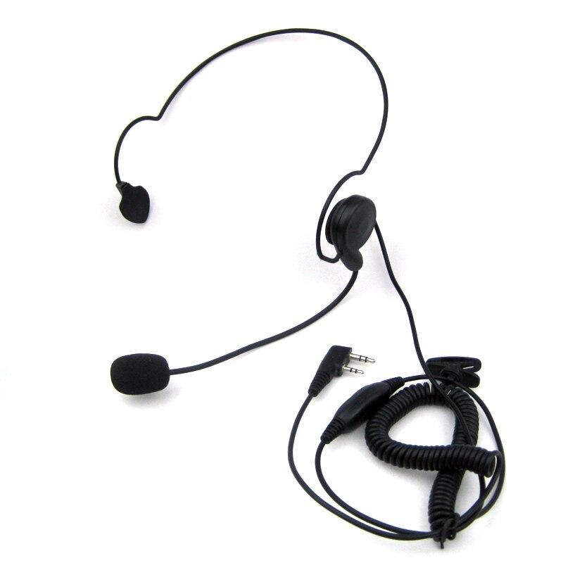imágenes para 2 pin auricular headset micrófono mic ptt para baofeng portátil Radio de dos Vías UV-5R BF-888S GT-3 UV-B5 Walkie Talkie BF-UVB2 Plus