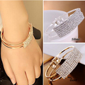 Bracelet femme 2016 Wristband Bracelets Crystal Gem Bracelet pulseiras para as mulheres indian bangles