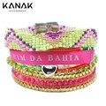 KANAK FASHION Girlish Handmade Room Beads Band Tassel Pulseras France Rainbow Multilayer Magnet Brazilian Bracelets For Women