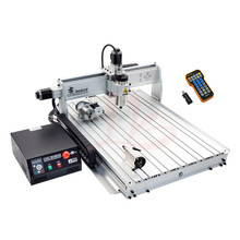 2.2KW power 4axis woodworking cnc router 8060Z USB with Mach3 remote control cnc 8060