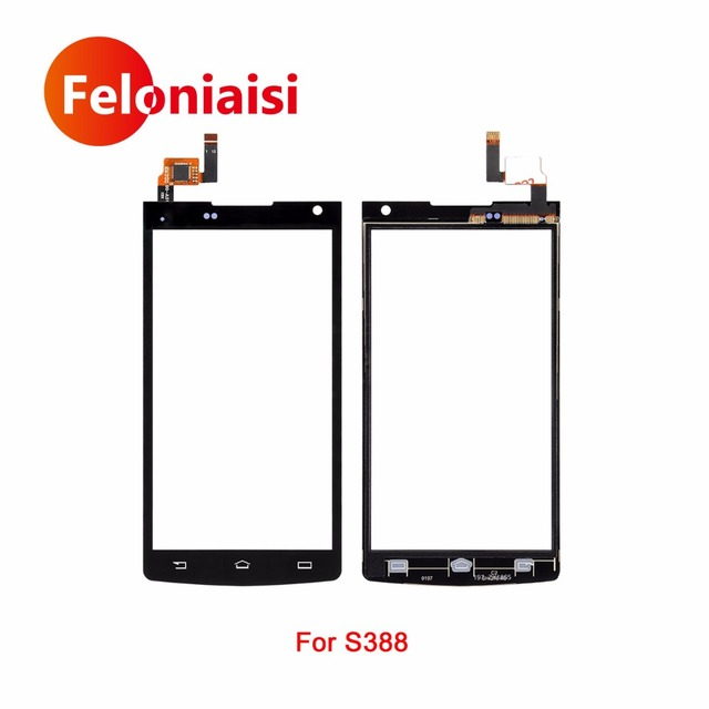 """10Pcs/lot High Quality 4.5"""" For Philips Xenium S388 388 Touch Screen Digitizer Sensor Glass Lens Panel Black +Tracking Code"""