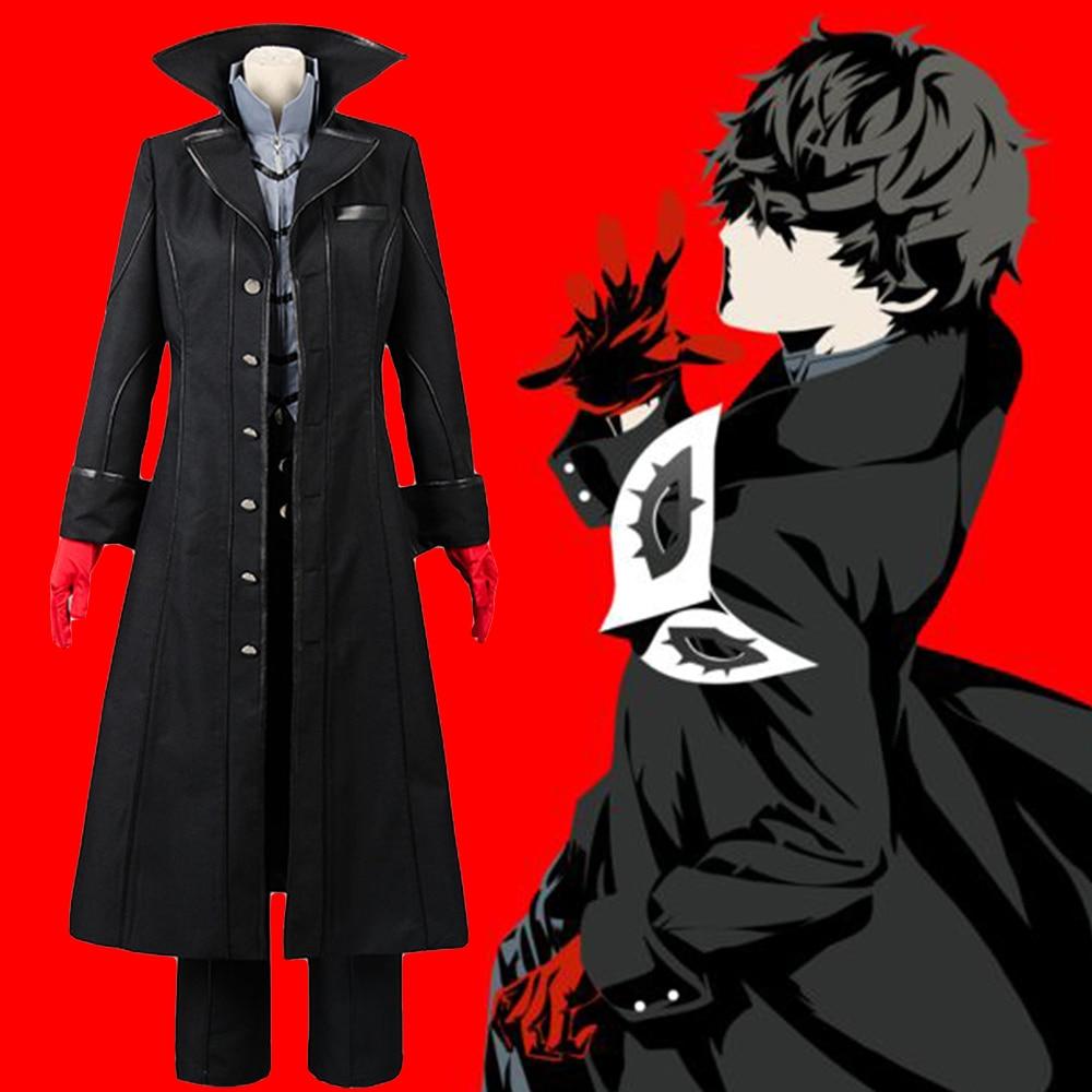 Cosplay Persona 5 Joker Leading Character Hero Protagonist Cosplay Costume Full Set Uniform Halloween Carnival Full Set