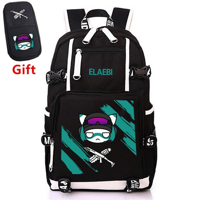 Steam Game Tom Clancy's Rainbow Six Siege Military Men Backpack Canvas Laptop Backpack Unisex Travel Backpack Rugzak School Bags