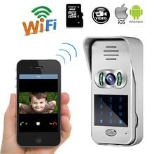 Free Shipping New Code / Keypad Wireless Wifi 720P HD Video Intercom Door Phone for iPad Phone Remote Monitor / Unlock WHOLESALE