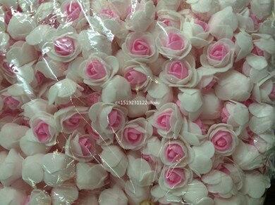50 шт. пенополиэтилен поддельные цветок розовый Роза головы искусственный цветок Свадебные украшения для записки Подарочная коробка DIY гирлянды Multi- цели