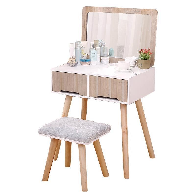 Miroir Makeup Box Chambre Drawer Camera Da Letto Vanity Coiffeuse Retro Wooden Bedroom Furniture Korean Table Quarto Penteadeira цена