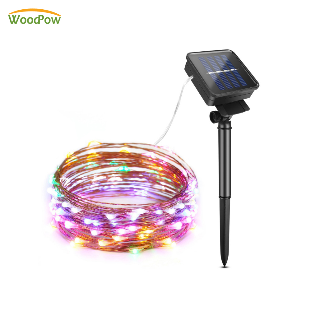 WoodPow Solar String Light 50-200 LED Garland Outdoor Waterproof Fairy Lights for Christmas Holiday Party Garden DecorationWoodPow Solar String Light 50-200 LED Garland Outdoor Waterproof Fairy Lights for Christmas Holiday Party Garden Decoration