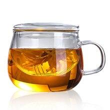 350 мл стеклянная чайная чашка домашняя чайная посуда для кухни экономичный фруктовый сок напитки кофе чайник термостойкая вода чайная чашка Ресторан