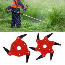 6 стальные бритвы Триммер головка газонокосилка травяная травка Пожиратель щетка резак инструмент