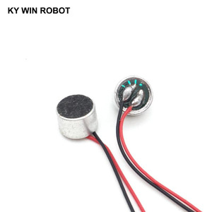 Image 2 - 10 adet/grup 9x7mm 9767 MIC Kapsül elektret kondensör mikrofon Ile Tel Uzunluğu 9.5 CM