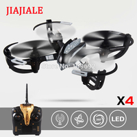 JIAJIALE X4 RC Quadcopter 6 Axis 2.4G 4CH Drone 3D Flying LCD Display Transmitter Headless RC Helicopter Toys VS X5S