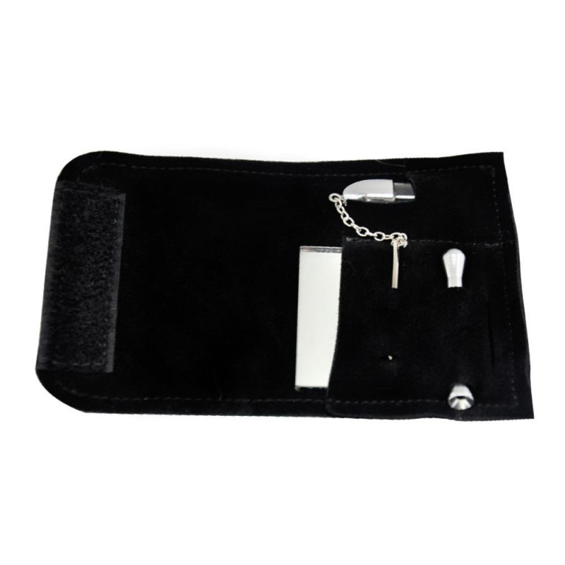 Portable 100 Genuine Leather Tobacco Pouch font b Bag b font Snuff BulletSnorter font b Tool