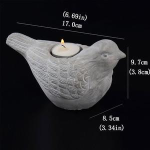 Image 3 - Silicone Concrete Mold 3D Bird Shape Candlestick Molds DIY Succulent Plants Making Mould Home Desk Decorating Tool