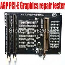 Pc agp x16 ثنائي استخدام المقبس تستر عرض الرسومات pci e بطاقة الرسومات بطاقة فيديو مدقق تستر أداة تشخيص