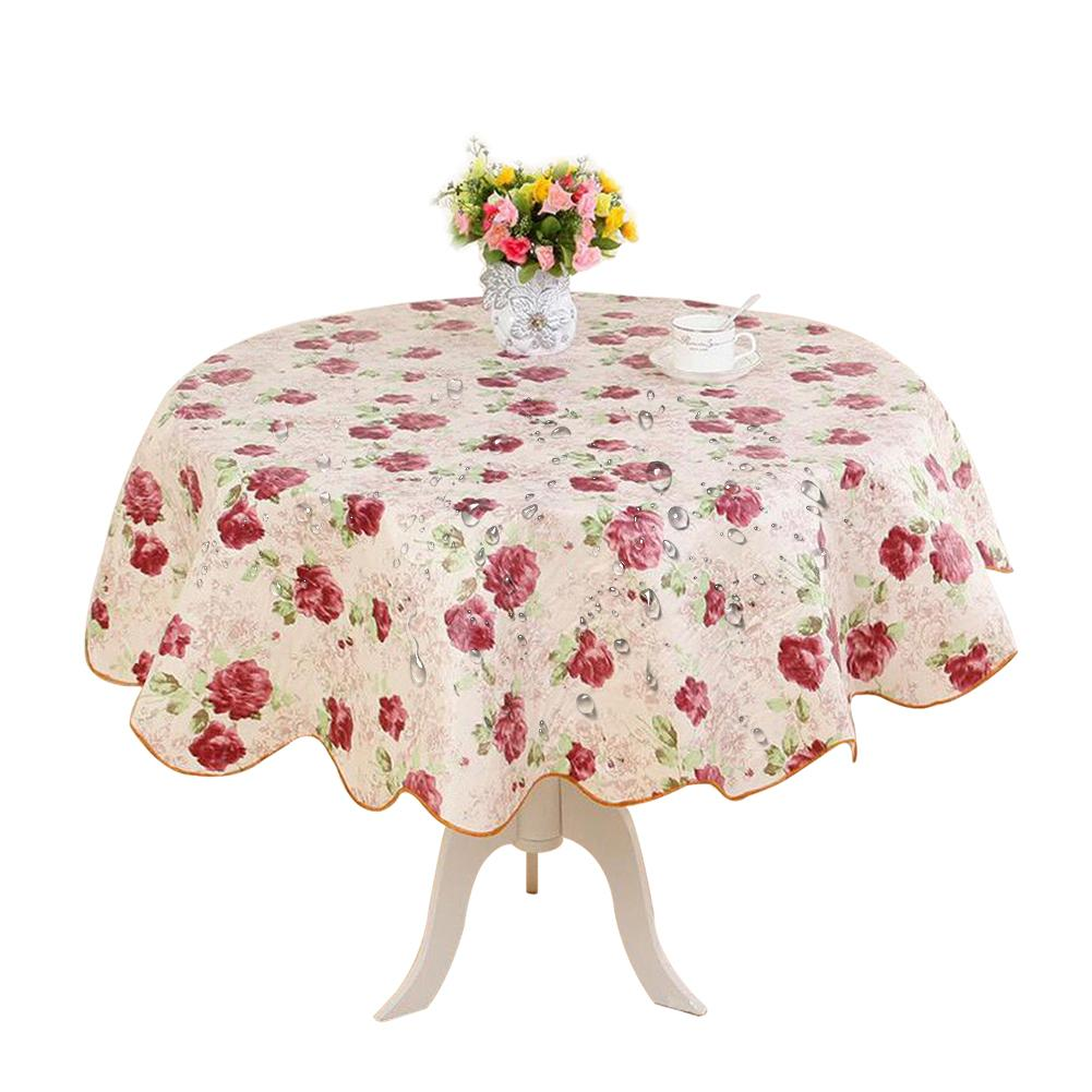 Super Us 6 76 39 Off Pastoral Round Table Cloth Pvc Plastic Table Cover Flowers Printed Tablecloth Waterproof Home Party Wedding Decoration 3 Styles4 In Download Free Architecture Designs Grimeyleaguecom