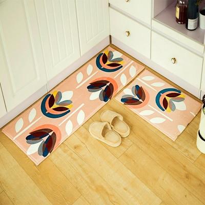 1pcs Flannel Door Welcome Mat Printed Bath Rug Long Kitchen Carpet Vintage  Home Decor(China
