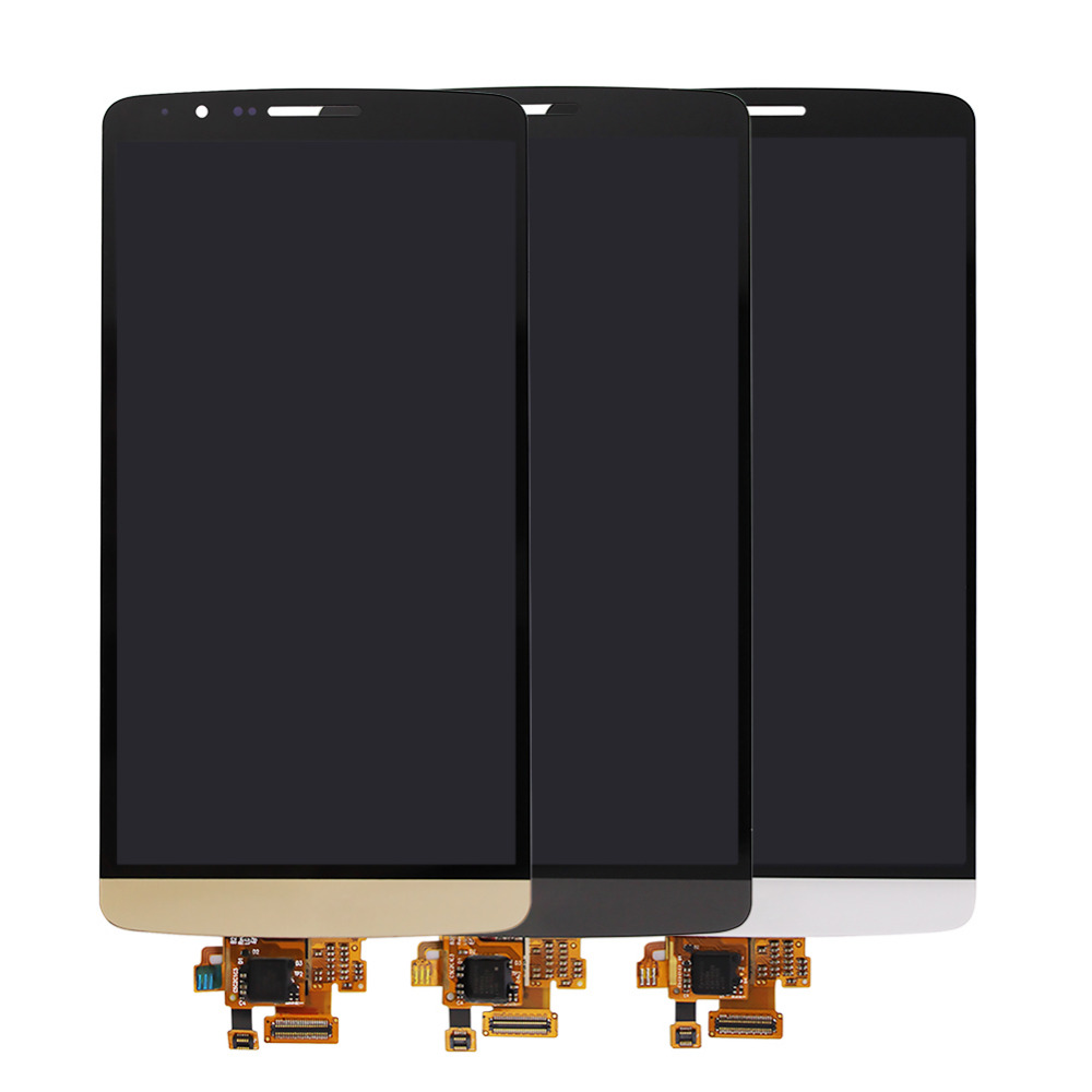 LCD DIsplay + Touch Screen Digitizer Assembly replacement parts for LG G3 D855 high quality gold/grey/white